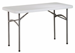 Work Smart 4' Light Weight Resin Multi-Purpose Folding Table with Powder Coated Frame [BT04Q-OS]
