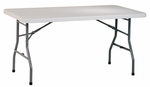 Work Smart 5' Light Weight Resin Multi-Purpose Folding Table with Powder Coated Frame [BT05Q-OS]