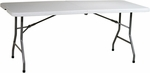Work Smart 6' Resin Multi-Purpose Center Folding Table with Powder Coated Frame [BT6FQ-OS]