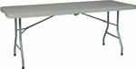 Work Smart 6' Resin Multi-Purpose Folding Table with Powder Coated Frame and Wheels [BT6FQW-OS]