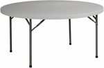 Work Smart 60'' Round Resin Multi-Purpose Folding Table with Powder Coated Frame [BT60Q-OS]