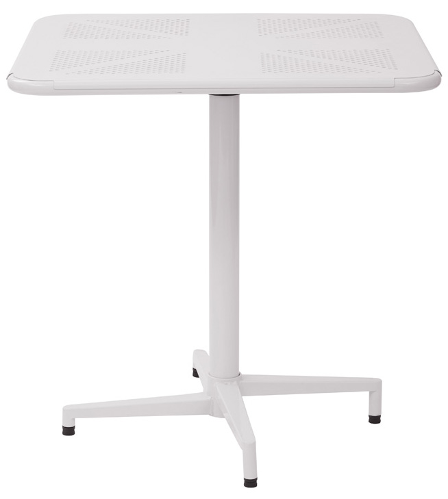 work smart albany 30'' square folding table with metal base