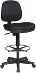 Work Smart Contemporary Armless Drafting Chair with Flex Back and Adjustable Foot Rest [DC800-FS-OS]