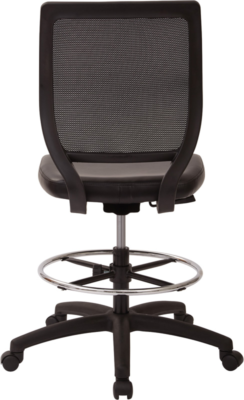 Work Smart Deluxe Woven Mesh Back Armless Drafting Chair