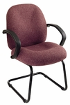 Work Smart Distinctive Conference Chair with C-Shaped Arms and Lumbar Support [EX2655-FS-OS]