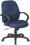 Work Smart Executive Mid Back Managers Chair with C style Arms [EX2651-FS-OS]