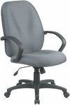 Work Smart Executive High Back Managers Chair with C style Arm and Lumbar Support [EX2654-FS-OS]