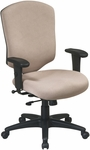 Work Smart Distinctive High Back Executive Chair with Ratchet Back and Adjustable Seat Height [41572-FS-OS]