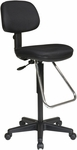 Work Smart Ergonomic Molded Foam Seat and Back Drafting Chair with Chrome Teardrop Footrest [DC430-FS-OS]