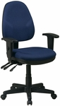 Work Smart Dual Function Ergonomic Chair with Adjustable Back Height and Arms [36427-FS-OS]