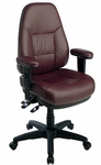 Work Smart Dual Function Ergonomic Leather Chair [EL4300-FS-OS]