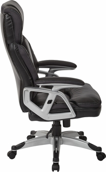 work smart executive bonded leather office chair with padded