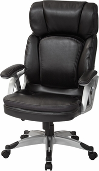 List Price   460 00Work Smart Executive Bonded Leather Office Chair with Padded  . Silver Office Chair. Home Design Ideas