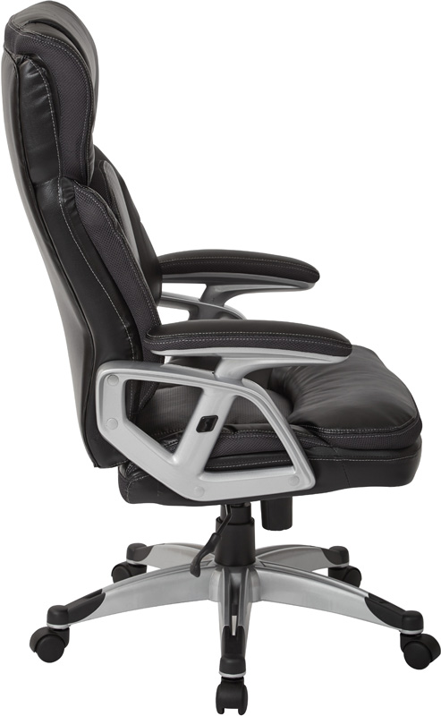 Office Chairs Adjustable Arms work smart executive bonded leather office chair with padded