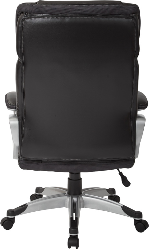 Work Smart Executive Bonded Leather Office Chair with Padded Height  Adjustable Arms   Black and Silver  ECH70756 EC3 by Office Star Products    BizChair comWork Smart Executive Bonded Leather Office Chair with Padded  . Silver Office Chair. Home Design Ideas