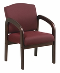 Work Smart Thick Padded Executive Visitors Chair with Lumbar Support - Mahogany [WD383-FS-OS]