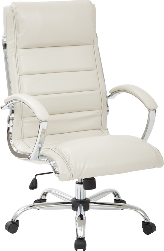 work smart faux leather executive office chair with thick padded
