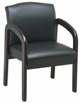 Work Smart Thick Padded Faux Leather Visitors Chair with Lumbar Support - Mahogany [WD383-U6-FS-OS]