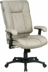 Work Smart High-Back Executive Leather Chair with Pillow Top Seat and Back [EX9382-FS-OS]