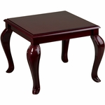 Work Smart Solid Wood Queen Ann Traditional End Table - Mahogany [TBB2020-FS-OS]