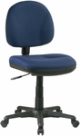 Work Smart Sculptured Deluxe Task Chair - Black [8120-FS-OS]