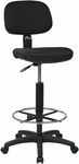 Work Smart Sculptured Seat and Back Drafting Chair with Adjustable Height Seat and Footring [DC517-FS-OS]