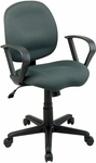Work Smart Sculptured Task Chair with Contemporary Loop Arms and Casters [SC59-FS-OS]