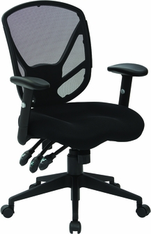 work smart spx multi-function fabric office chair with saddle seat