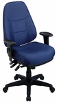 Work Smart Super Ergonomic Task Chair with Thick Padded Seat and Back and 2-Way Adjustable Arms [2907-FS-OS]