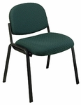 Work Smart Armless Visitors Chair with Molded Foam Seat and Steel Frame [EX31-FS-OS]