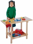 Kid's Maple Wood Workbench with Vise and Shelf [0263JC-JON]