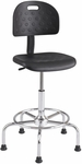 Workfit™ Economy Industrial Series Adjustable Height Drafting Stool - Black with Chrome Base [6950BL-FS-SAF]