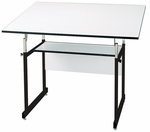 Black WorkMaster Jr Drawing Table - 31''D x 42''W [WMJ-3-XB-FS-ALV]
