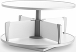 Moll 32''W Worktop Addition for Floor Stand Carousel Shelving - White [CLS-80-FS-EOS]