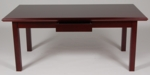 36 x 72 Wood Veneer Writing Desk in Mahogany Finish [920MH-FS-FDG]