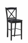 X Back 30''H Bar Stool - Black [01710BLK-01-KD-U-FS-LIN]