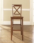 X-Back Bar Stool in Classic Cherry Finish with 30'' Seat Height - Set of 2 [CF500430-CH-FS-CRO]