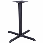X-Shaped Base with 3'' Dia. Table Height or Bar Height Column [BFHD-2-XBAS-TDR]
