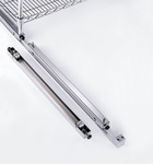 X5 18'' D Roller Assembly with Brake - Chrome [SRA18CRA-MFO]