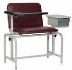 XL Blood Drawing Chair Padded Vinyl With Drawer [2574-FS-WIN]