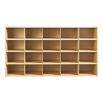Young Time® 20-Tray Cubby Storage Unit without Trays [7040Y-JON]