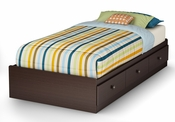 Zach Collection Twin Mates Bed (39'') Chocolate