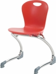 ZUMA Series Cantilever Chair with 13''H Seat Height - 15.5''W x 14.88''D x 23.13''H [ZCANT13-VCO]