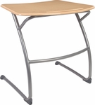 ZUMA Series Cantilever Student Desk with Bowfront Hard Plastic Top - 31.63''W x 24.5''D x 29''H [ZDESK29M-VCO]