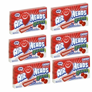 Air Heads Gum Cherry 12 Pack