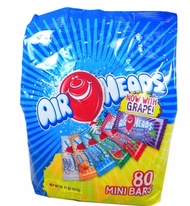 Air Heads Taffy Mini's Assorted 80 Count