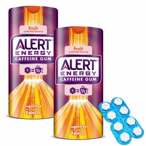 Alert Caffeine Gum Fruit 8 Count
