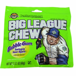 Big League Chew Shredded Bubble Gum  12ct - Sour Apple