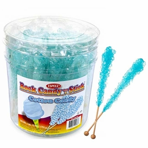 Blue Rock Candy Sticks Wrapped 36 Count