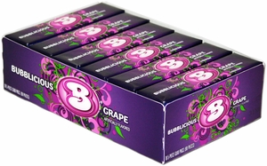 Bubblicious Bubble Gum 18ct - Grape